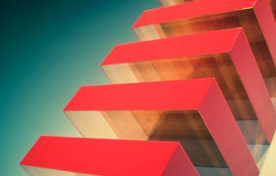 plexiglass rosso